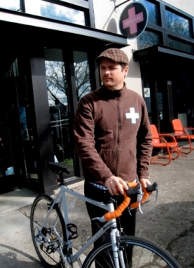 WHERE THE RUBBER MEETS THE ROAD: Josh Hooten of Herbivore will bike 600 miles on behalf of animals in May.