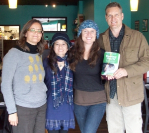 Anita Krajnc of Toronto Pig Save, lauren Ornelas of Food Empowerment Project, Jo-Anne McArthur of We Animals, and Mark Hawthorne