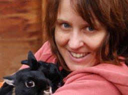 Rabbit advocate Tracy Martin and friends.