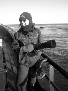 Documenting the work of Sea Shepherd. Photo by Fiona McCuaig