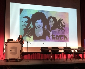 Brenda Sanders gives a shout-out to Aph Ko and Black Vegans Rock.