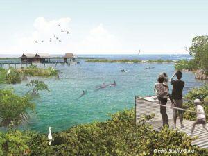 Dolphin sanctuary rendering